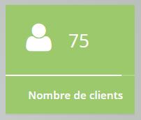 nombre de clients sur le tableau de bord de Numix plateforme d'e-facturation au service des entrepreneurs